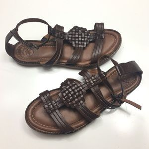 Johnson & Murphy Brown Leather Sandals
